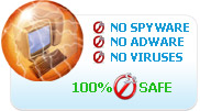 100% safe, no spyware, no adware, no virus