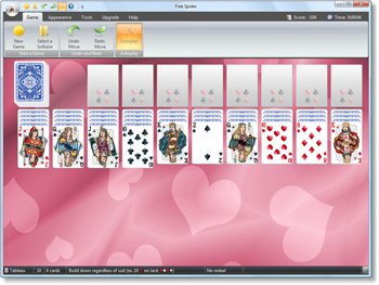 Free Spider Solitaire - Click to enlarge