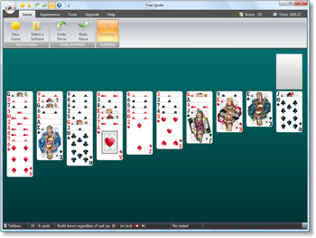 Free Spider Solitaire - Simple Simon Solitaire - Click to enlarge