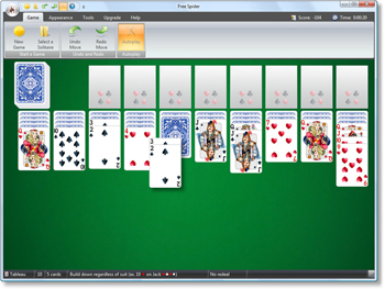 Free Spider Solitaire - Spider Solitaire Two Decks - Click to enlarge