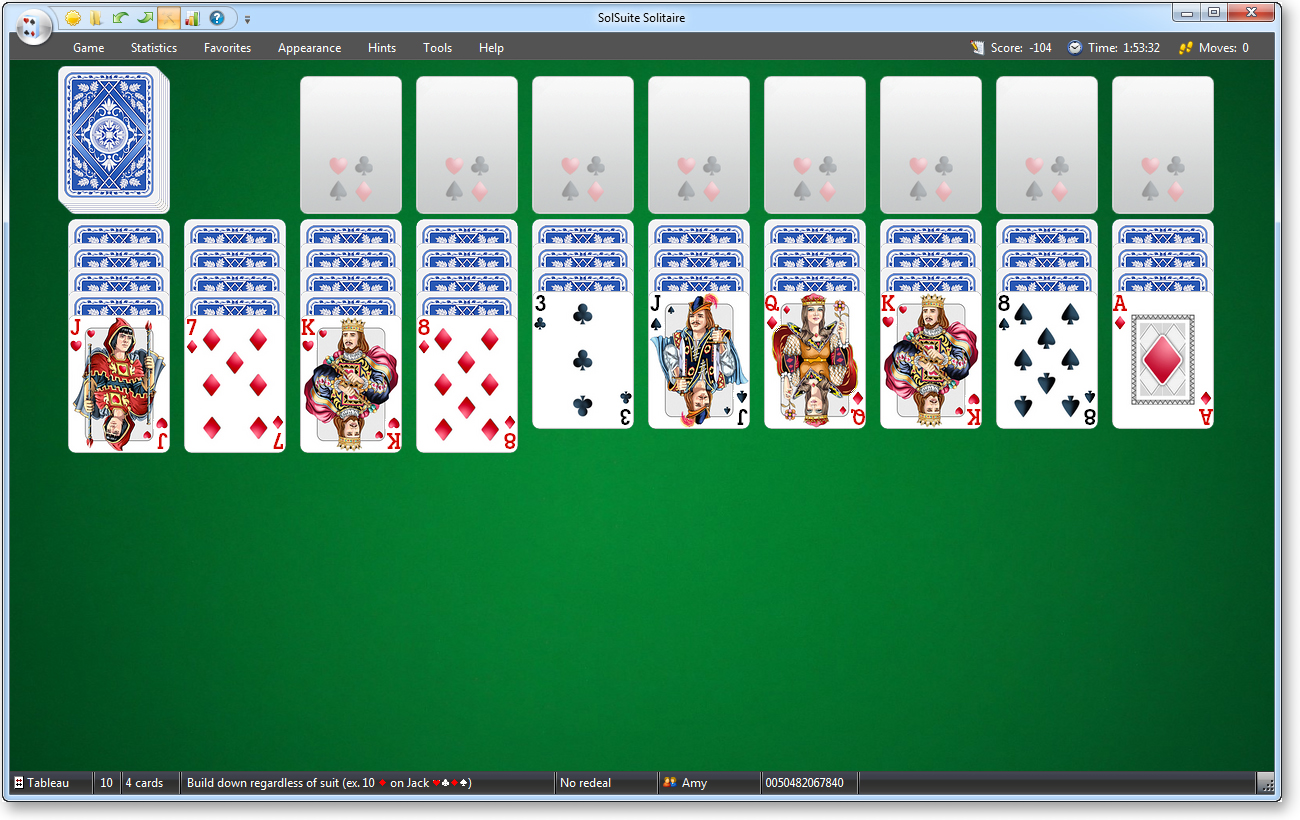 play spider solitaire