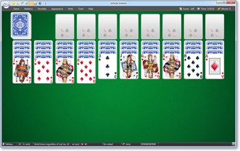Spider Solitaire screenshot - Click to enlarge